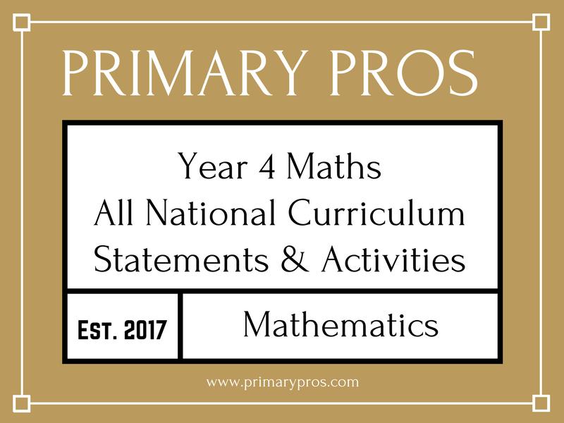 Year 4 Maths - 3/3 National Curriculum Statements & Activities