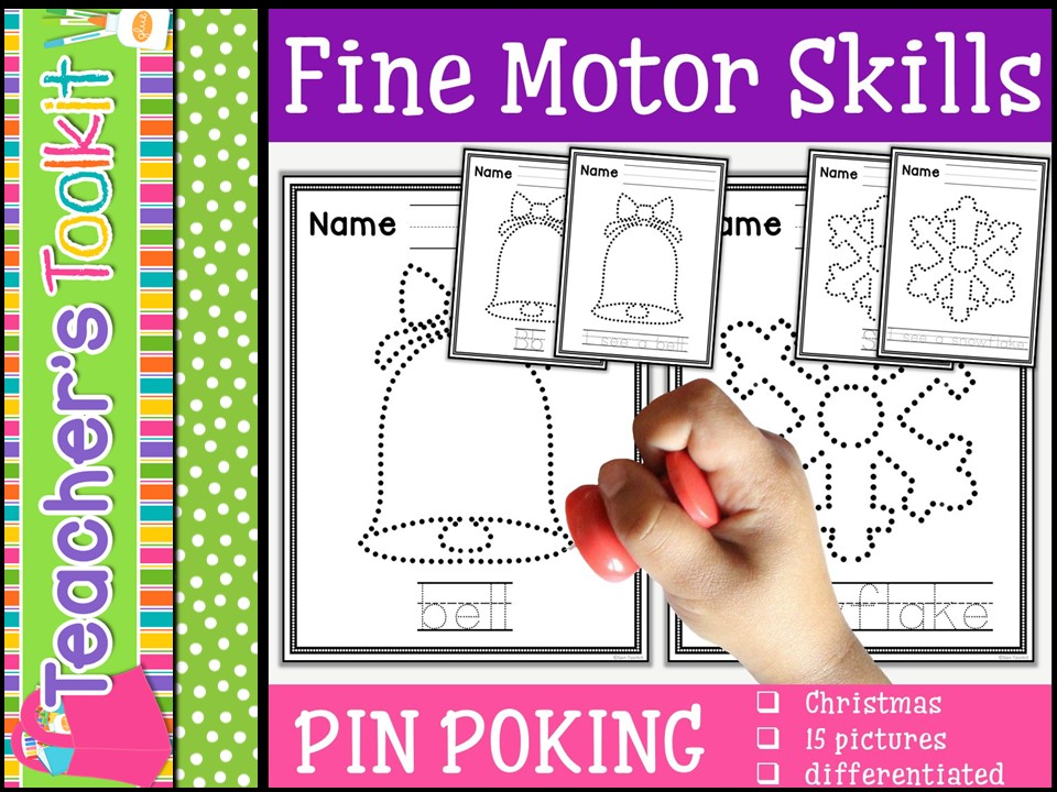 Motor Skills: Pin Poking Christmas