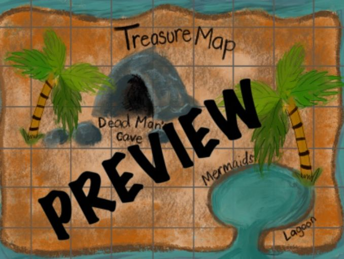 Treasure Map Cordinates Game KS1