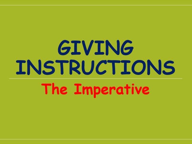 Imperative Verbs [Charlotte's Webb version]