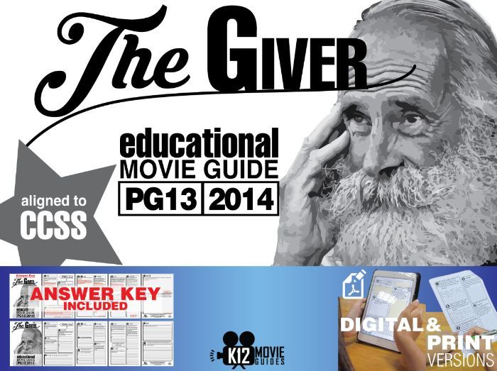 The Giver Movie Guide | Questions | Worksheet (PG13 - 2014)