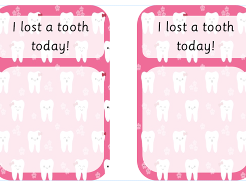 Lost Tooth Notes