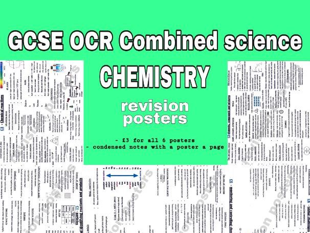 GCSE OCR combined science - Chemistry posters