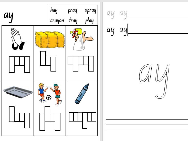 Kindergarten/Foundation Phonics Worksheets-Set 3