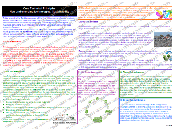 Sustainability Knowledge Organiser