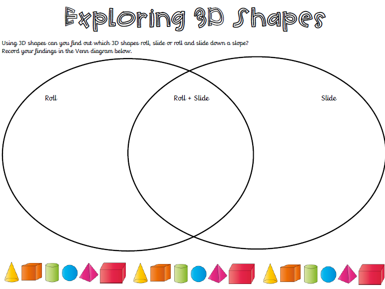 Exploring 3D shapes Worksheet