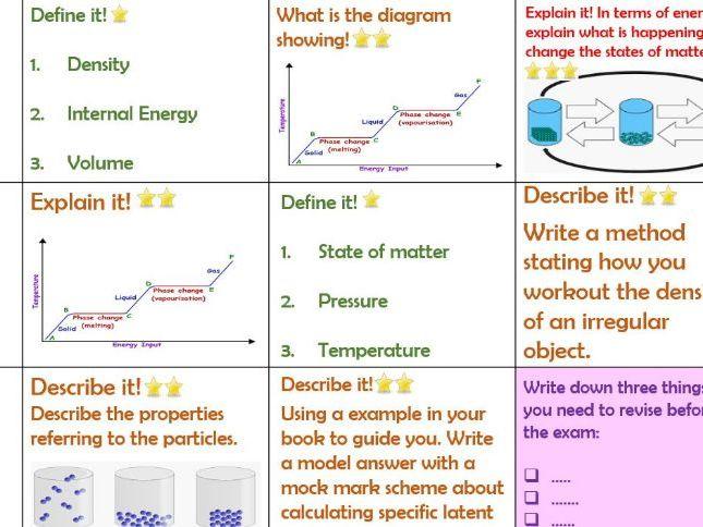 AQA P1/P2 Physics Revision placemat Blitz Trilogy