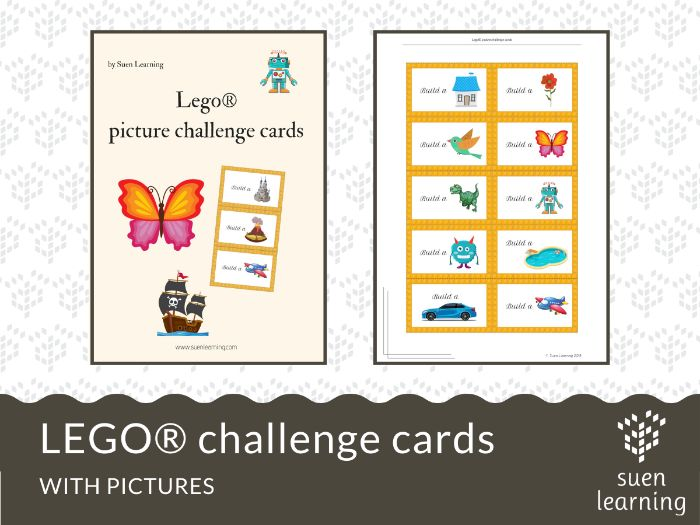 LEGO® challenge cards with PICTURES