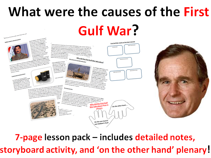 Causes of the First Gulf War - 6-page lesson pack