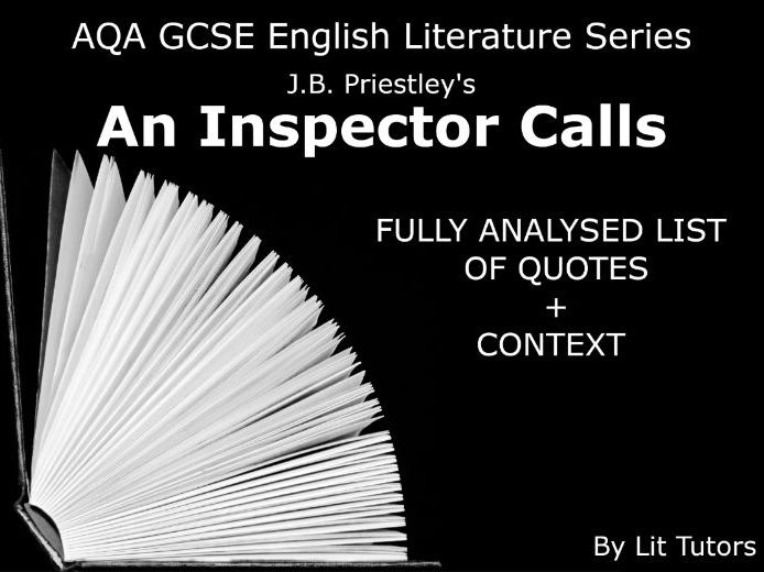 An Inspector Calls Quote List