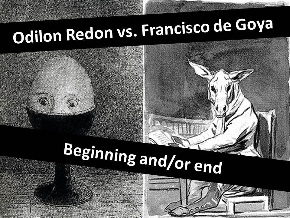 Goya & Redon Ink Wash technique- Beginning. End. GCSE 2017