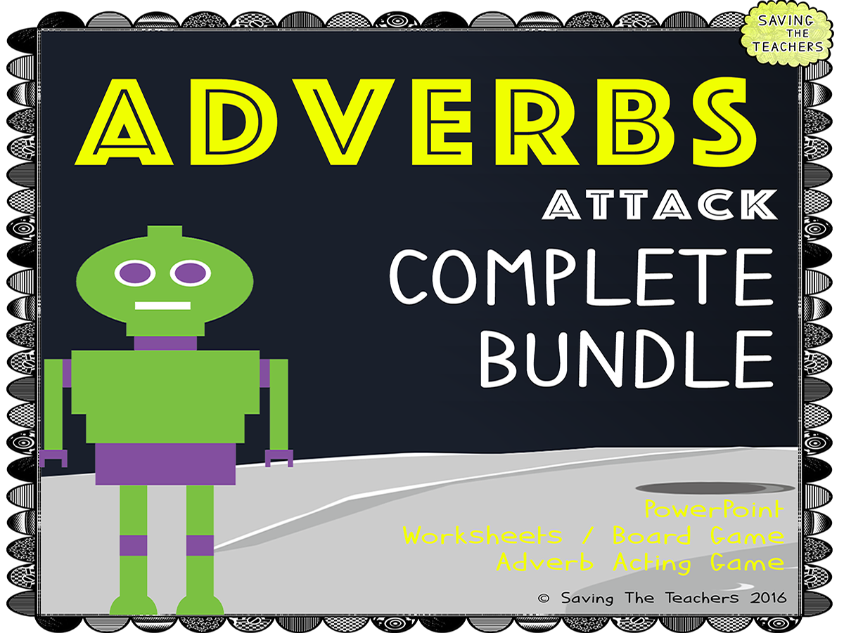 Adverb Worksheets Activities And Game Bundle Teaching Resources