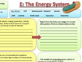 Btec Sport 2016 - NEW SPEC - Unit 1 - Section E - Energy Systems by ...