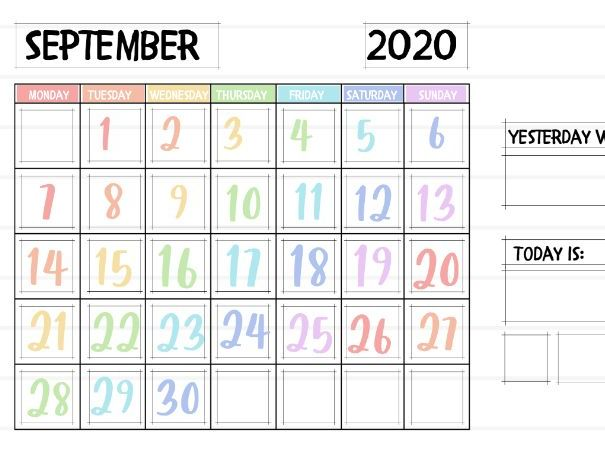 Pastel  2020-2021 Academic Calendar UK