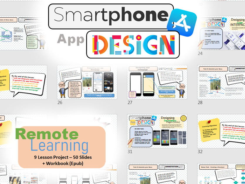 Smartphone App Project - Remote Learning - Extended Cover
