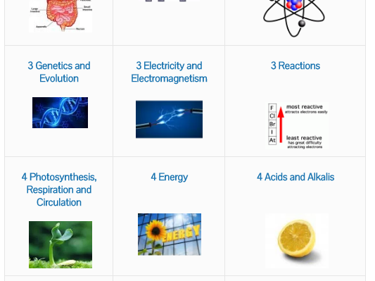 SMART Science KS3 Revision Quizzes