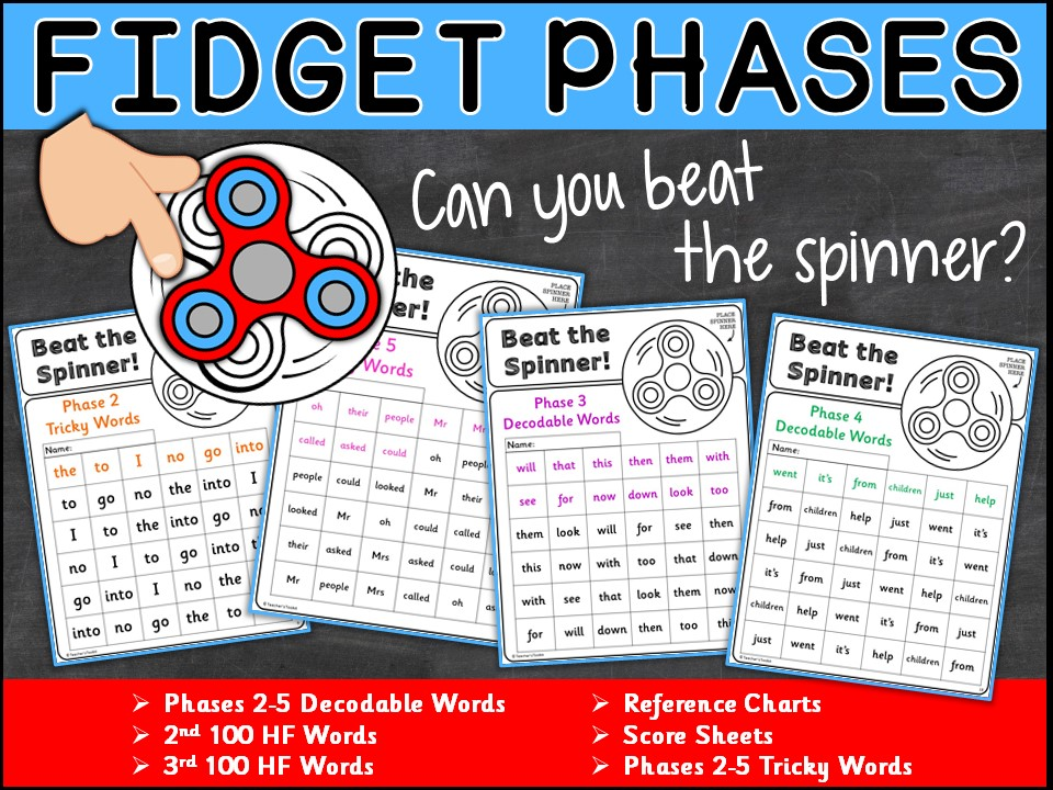 Vocabulary:  High Frequency Words Fidget Phases