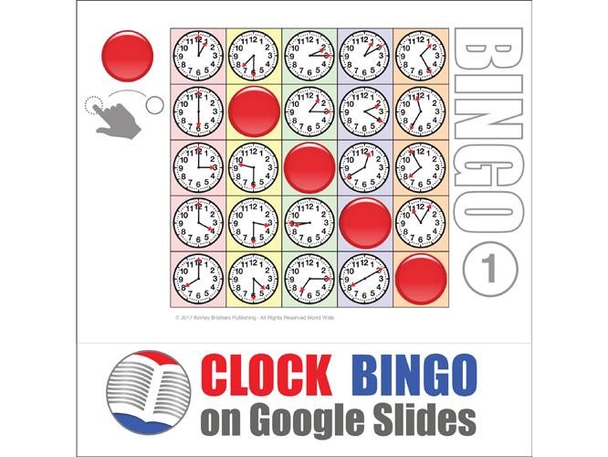 Clock Digital Bingo