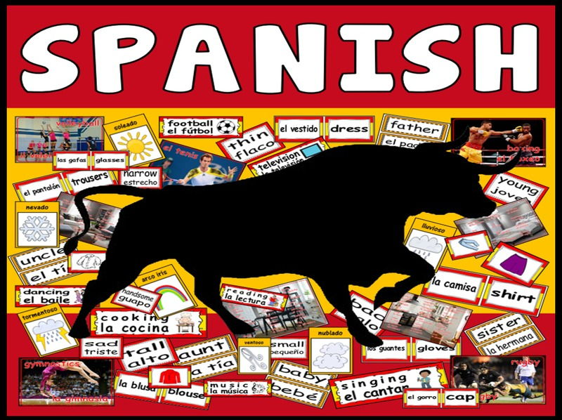 SPANISH LANGUAGE TEACHING RESOURCES DISPLAY FLASHCARDS POSTERS SET 2