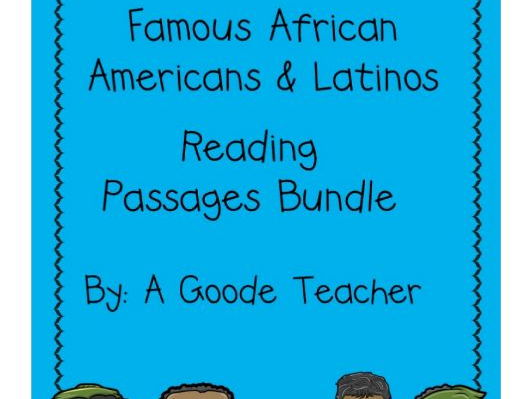 Reading Comprehension Famous African Americans & Latinos Bundle