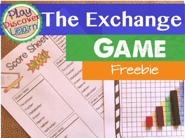 PDL's The Exchange Game A Game of Mathematical Notation For Cuisenaire® Rods