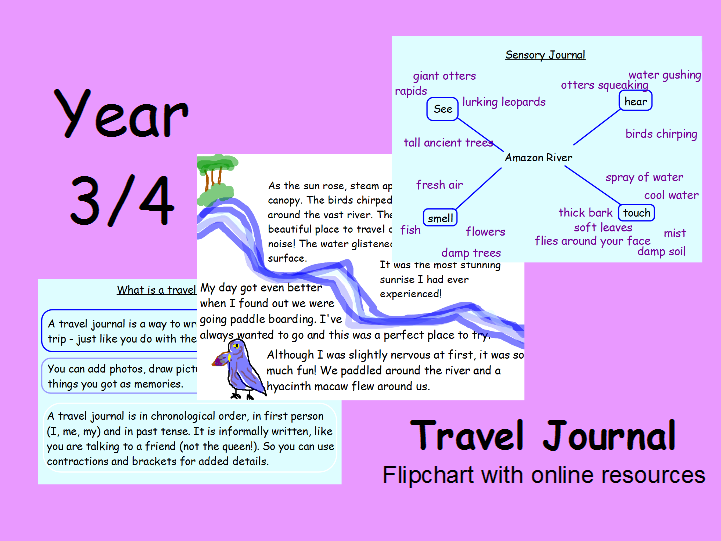 Travel Journal Amazon River Year 3 4