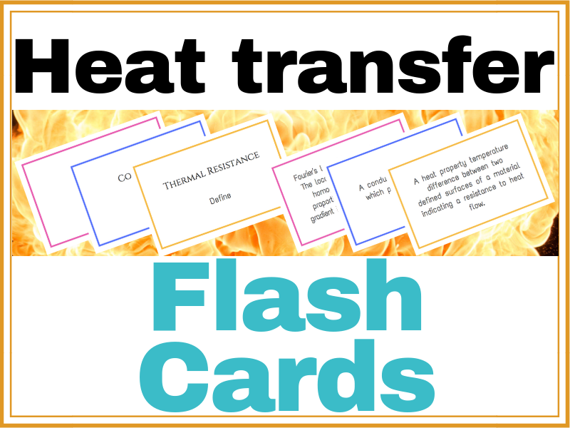 Heat Transfer Flash Cards