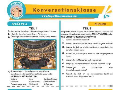 Bücher - German Speaking Activity