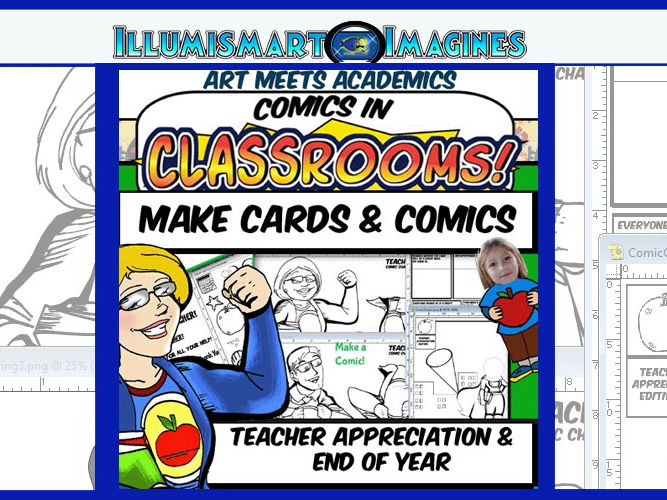 Teacher Appreciation and EOY Cards and Comics Kit!