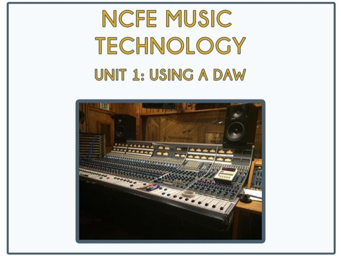 NCFE Music Technology Unit 1 - Audio Interfaces