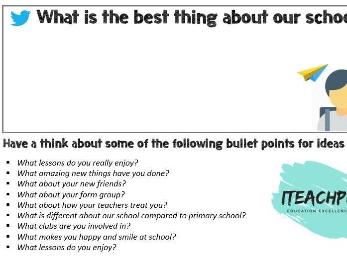 Tweet Competition (Improve culture and create positive marketing: Pupil Premium, KS3/KS4)