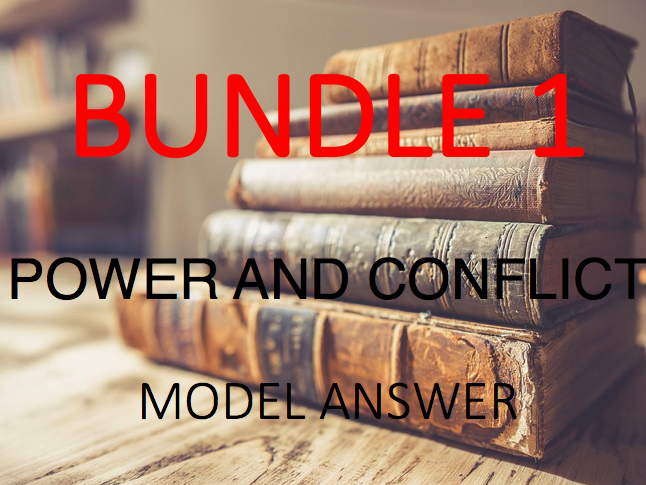 Power and Conflict - Poetry Anthology: Model Answers