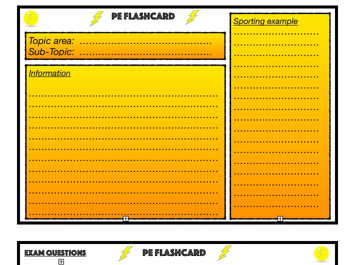 Flashcards - GCSE PE Revision