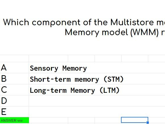Multiple Choice Randomiser - Unit 1 Psychology - Social and Cognitive (Maths and Research)