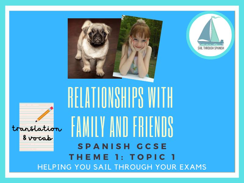 Family & Friends Translation & Vocab: GCSE Spanish Theme 1 :Topic 1