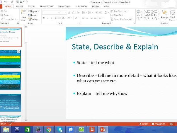 AQA GCSE PE (1-9) Exam Structure Presentations (x2)