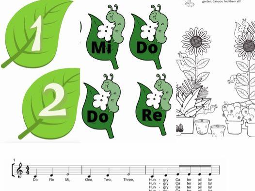 The Caterpillar Racing Song  Teaching Pack Beginner song pack