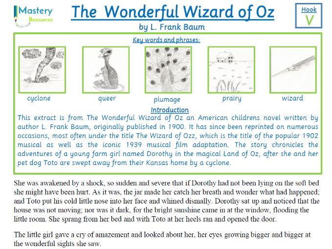 The Wonderful Wizard of Oz by L. Frank Baum Comprehension KS2