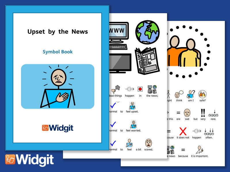 Upset by the News with Widgit Symbols
