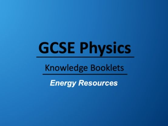 Energy Resources Knowledge Booklet