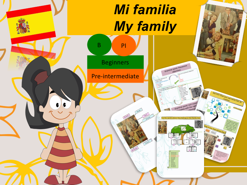 Describe my family in Spanish (lesson + activities) / Mi familia