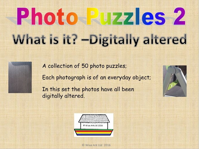 Photo puzzles 2: Digitally altered