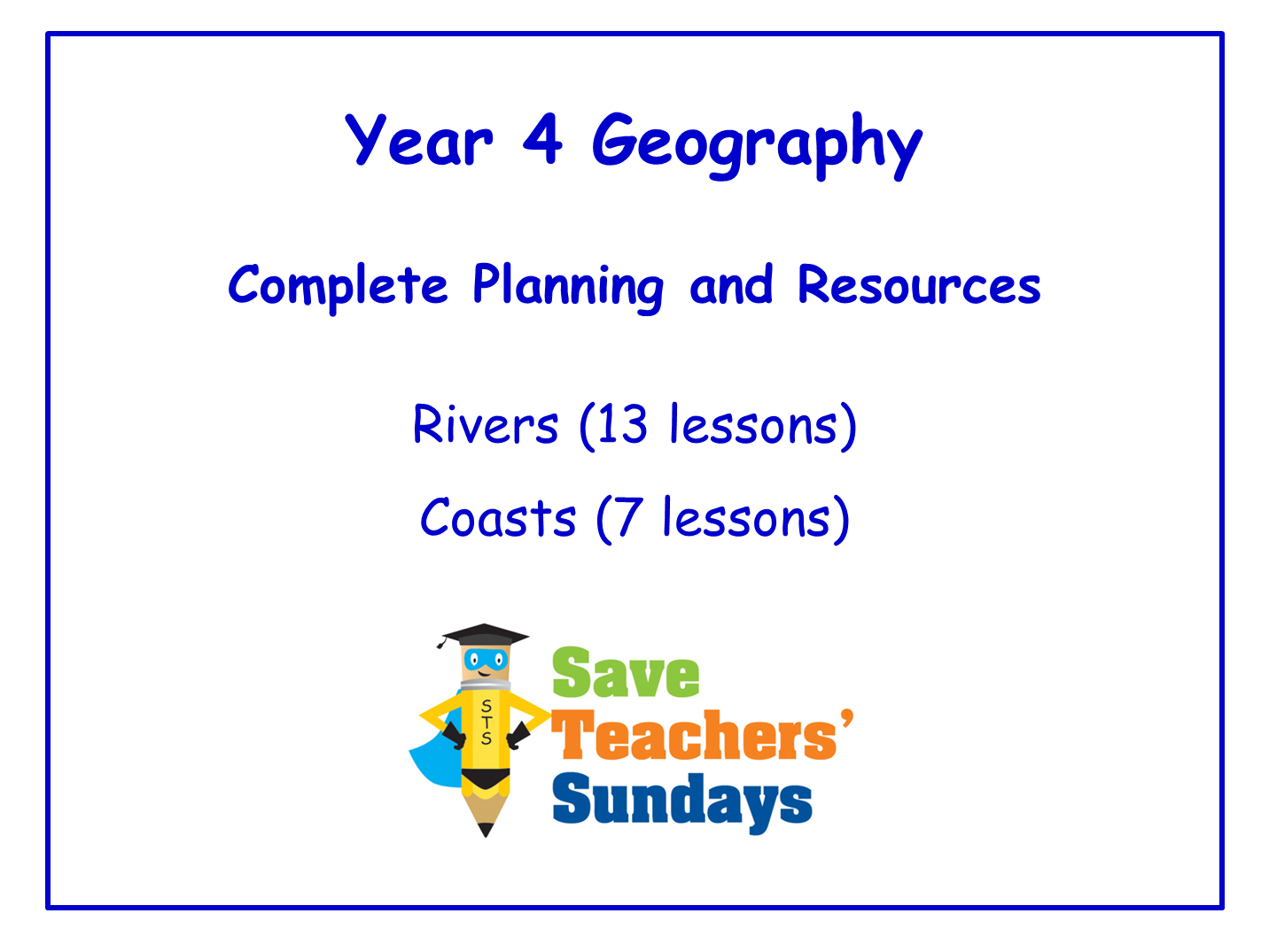 Year 4 Geography Planning and Resources