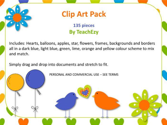 Clip Art Pack by TeachEzy