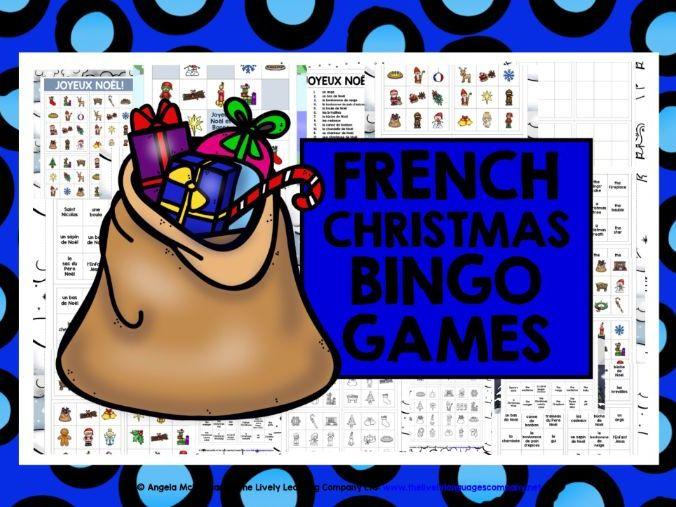 CHRISTMAS: FRENCH CHRISTMAS BINGO