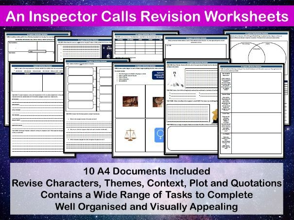 An Inspector Calls Revision Worksheets