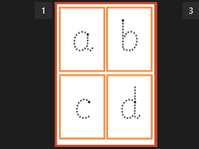 Alphabet/letter formation flash cards - handwriting practice
