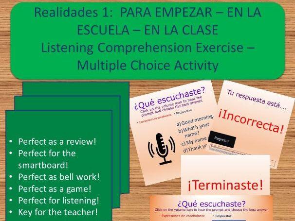 Spanish A1: EN LA ESCUELA-EN LA CLASE