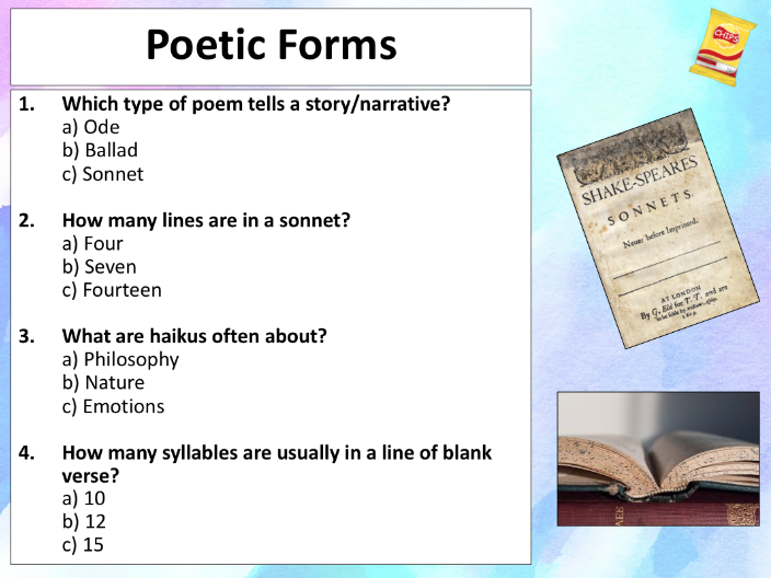 The ultimate poetry quiz - 40 questions