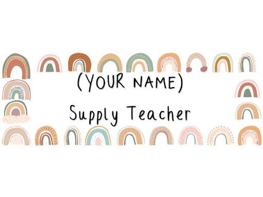 Primary Supply Teacher Folder Labels